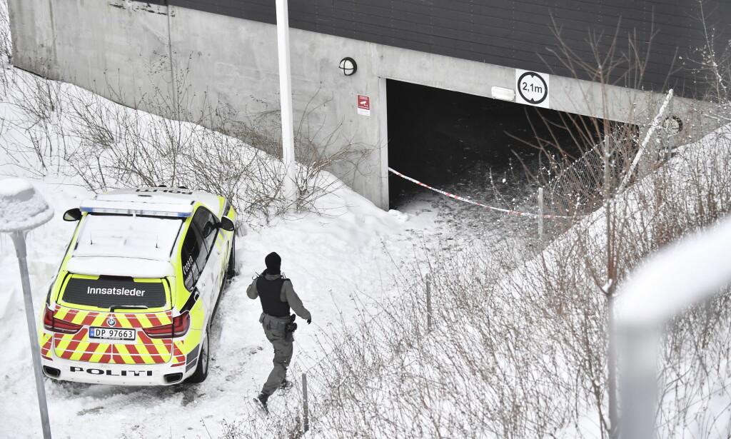 VARETEKTSFENGSLET: Den 32 årige mannen som er siktet for drapet på en polsk mann i et garasjeanlegg på Bjørndal i Oslo, er varetektsfengslet i fire uker. Foto: Lars Eivind Bones / Dagbladet