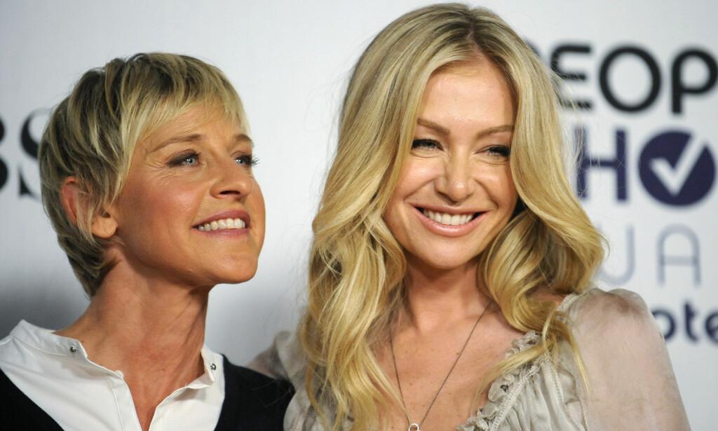 GIFT: Ellen DeGeneres og Portia de Rossi møttes på begynnelsen av 2000-tallet, og giftet seg i 2008. Foto: NTB Scanpix