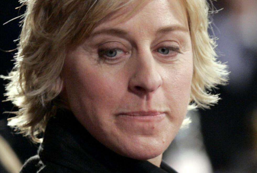 ORDKNAPP: Talkshow-stjerna Ellen DeGeneres åpner seg sjelden om dødsfallet til ekskjæresten. Nå forteller 60-åringen om hvordan hun fant et lyspunkt midt i sorgen. Foto: NTB Scanpix