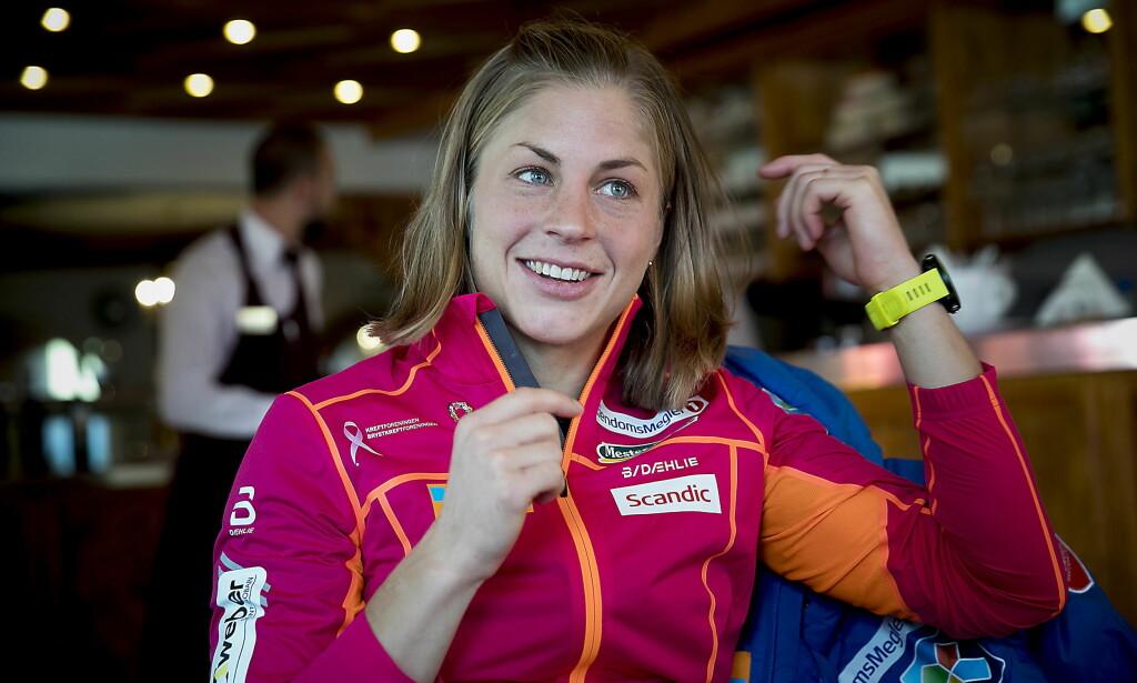 ETTERLENGTET: Astrid Uhrenholdt Jacobsen fikk en etterlengtet sportslig opptur på Kollen-tremila. Men hun har ennå ikke bestemt seg for om hun skal ta en ny sesong. Foto: Bjørn Langsem / Dagbladet