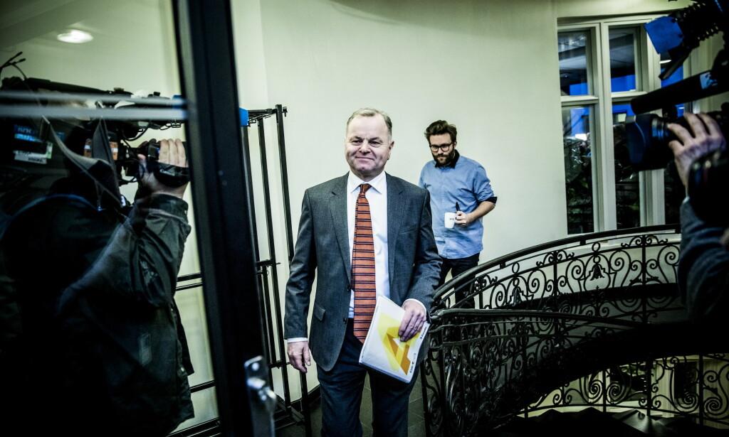 FERDIG: Olemic Thommessen var også på Høyre-møtet i kveld og overvar at Tone Trøen fikk hans gamle jobb. Foto: Christian Roth Christensen / Dagbladet