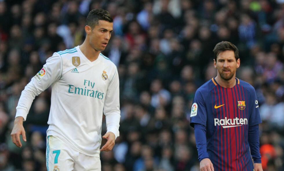 HVEM ER STØRST: Messi tar innpå Cristiano Ronaldos toppscorer-rekord i Champions League. Foto: REUTERS/Sergio Perez