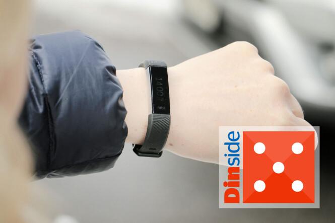<strong>MINST - OG BEST:</strong> Fitbit Alta HR er det minste armbåndet i testen - og også det som er enklest i bruk. For deg som kun vil registrere daglig aktivitet er dette et godt valg. Men litt dumt at skjermen er så vanskelig å lese utendørs ... Foto: Ole Petter Baugerød Stokke