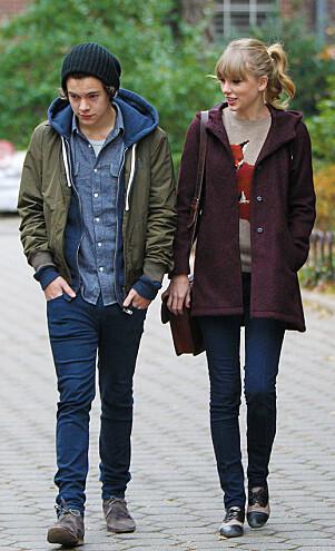 <strong>BRDD:</strong> Taylor Swift og Harry Styles var angivelig sammen i en lang periode, av og på. Swift skal ha basert noen av bruddlåtene sine på Styles. Foto: Splash News, NTB scanpix
