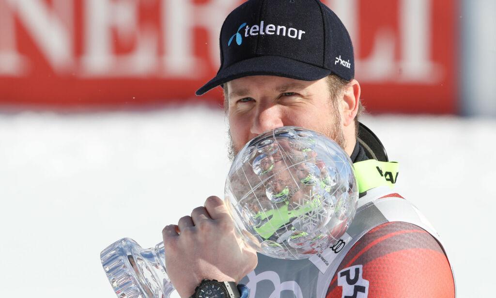 image: Jansrud strålte tross dårlig plassering: - Han er verdens beste superkjører og en kjekk kar