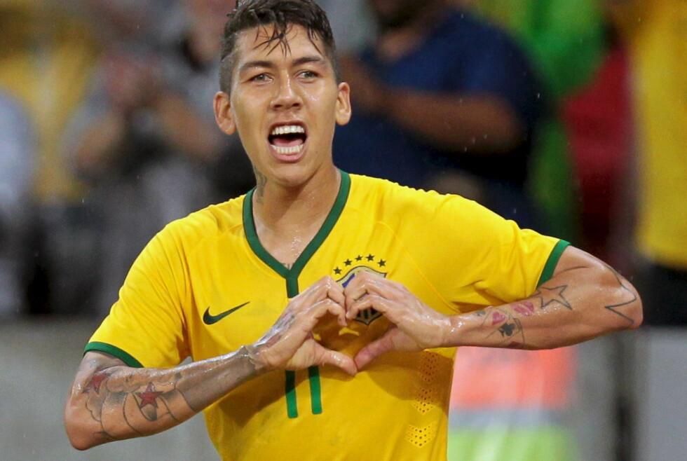 LITE KJÆRLIGHET I HJEMLANDET: Brasilianere er skeptiske til Liverpool-angriper Roberto Firmino. Foto: REUTERS/Edison Vara/NTB Scanpix