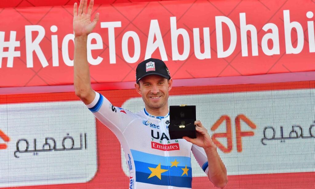 TO SEIERE: Kristoff står med to triumfer så langt denne sesongen. Begge i Midtøsten. AFP PHOTO / GIUSEPPE CACACE
