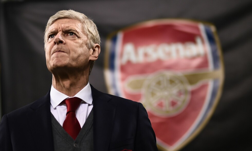 TIL RUSSLAND: Arsenal og Arsène Wenger møter CSKA Moskva. Foto: AFP PHOTO / MARCO BERTORELLO / NTB Scanpix