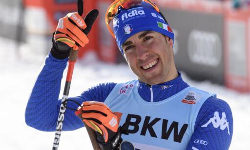 EVIG TOER: Federico Pellegrino har vært sesongens nest beste sprinter. Her etter andreplassen i Davos i desember. Foto: NTB Scanpix