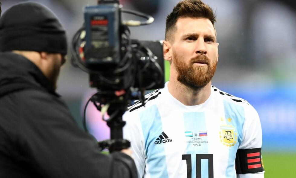 TIL VM: Lionel Messi og resten av Argentinas stjernegalleri skal til VM. Det skal også videodømming, som skal brukes for første gang i et verdensmesterskap til sommeren. Foto: AFP/Kirill Kudryavtsev
