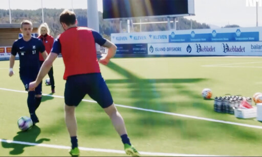 """TV-HELT: Adrian Austnes på trening for Varg IL. Gjengen bak """"Heimebane"""" har forstått hva vi trenger å trene på i norsk idrett."""