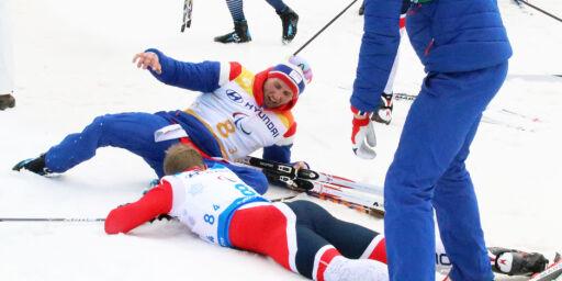 image: Zahl Pedersen i tårer da Norge avsluttet med lagsølv