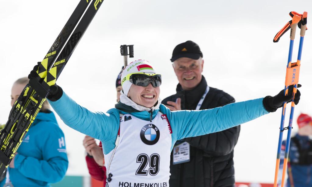 VANT I KOLLEN: Darja Domratsjeva vant verdenscuprennet i Holmenkollen.Foto: Berit Roald / NTB scanpix