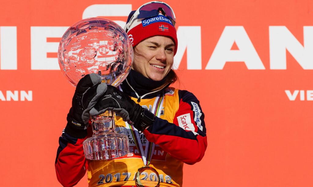 VANT SAMMENLAGT: Heidi Weng vant verdenscupen sammenlagt etter en thrilleravslutning. Foto: Bildbyrån
