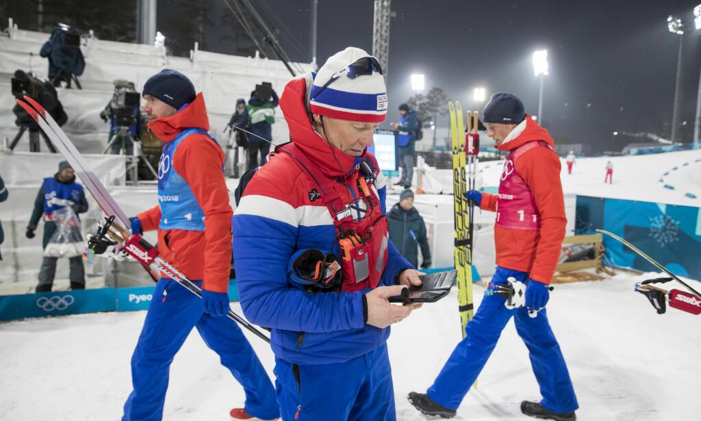 FORTSETTER: Egil Kristiansen fortsetter som skiskyttertrener i fire år til. Foto: Terje Pedersen / NTB scanpix
