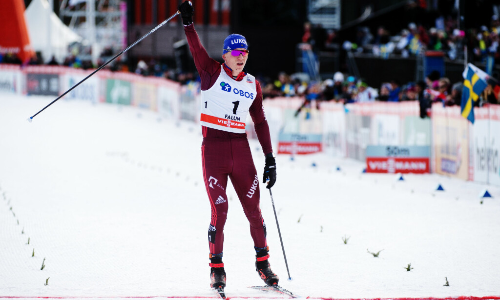 BESTEMANN: Aleksander Bolsjunov knuste resten av verdenseliten under sesongavslutningen i Falun. Foto: Simon Hastegård / Bildbyrån
