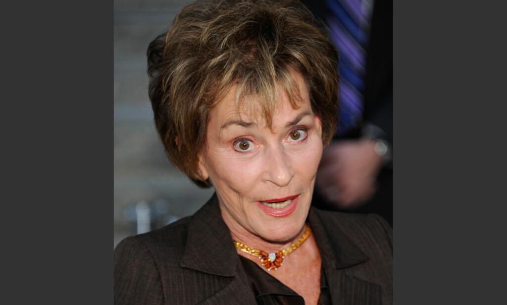 KNALLHARD: I over 20 år har Judith Sheindlin (75) vist seg beintøff i realityserien «Judge Judy». Foto: NTB Scanpix