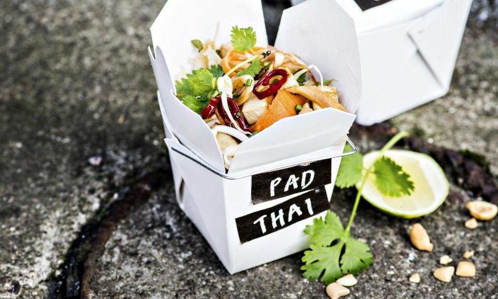 PAD THAI: Start uka med denne deilige asiatiske fastfood-retten. FOTO: Kirsi-Marja Savola
