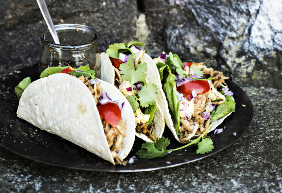 image: Tacos med pulled chicken