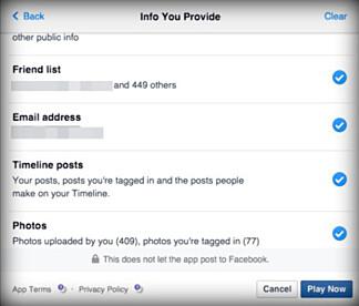 DETTE DELER DU: Om du velger å ta en test fra nametests.com (som mange Facebook-brukere gjør), gir du tjenesten tilgang på en rekke personlige opplysninger om deg selv.