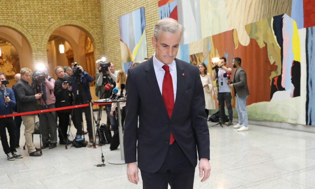 image: Støre klar for å kaste regjeringen: - Vi stemmer for mistillitsforslaget