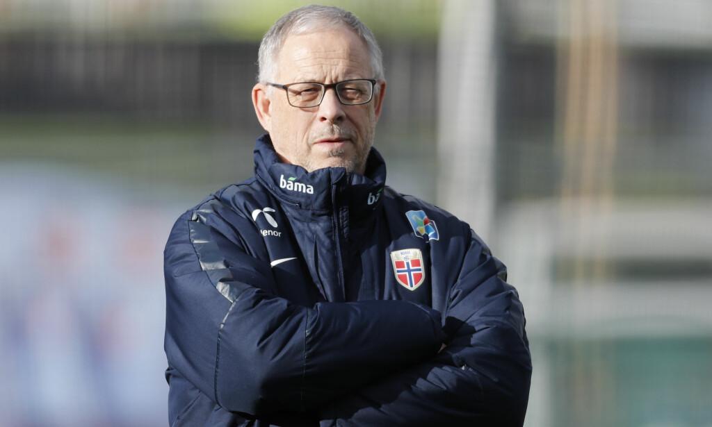 MANNEN MED ANSVARET: Lars Lagerbäck må få på plass en offensiv som gjør at Norge scorer mål vinner kampene vi må vinne i høst. Det er lettere sagt enn gjort. Foto: Cornelius Poppe / NTB scanpix