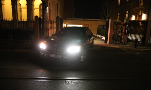 PÅ VEI UT: Sylvi Listhaug ble fraktet fra statsministerboligen i en svart BMW. Foto: Christian Roth Christensen / Dagbladet