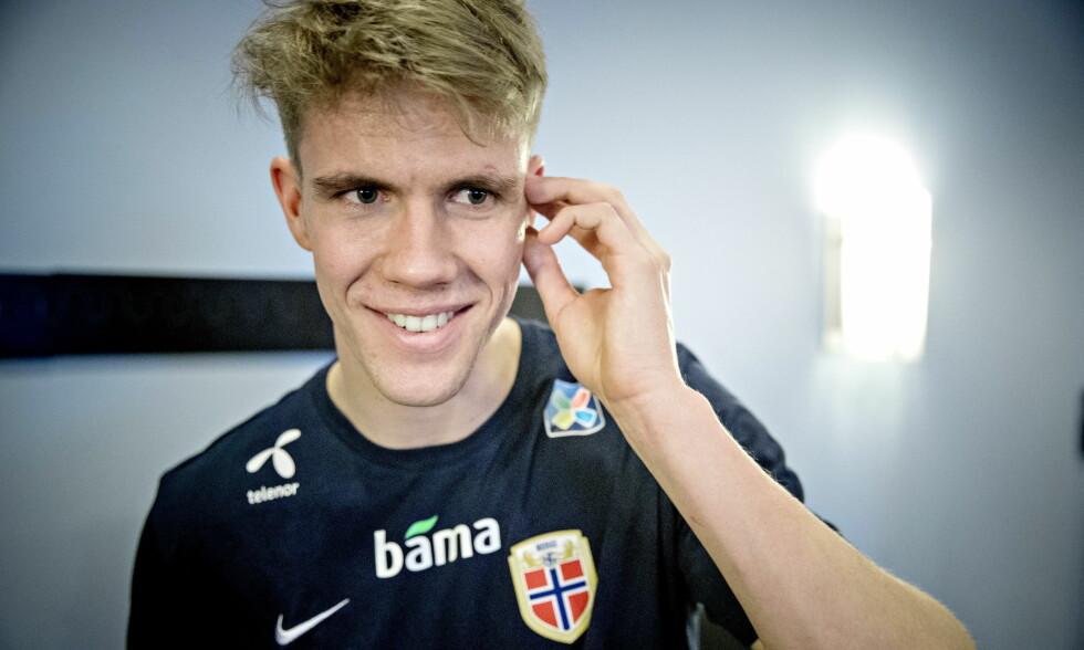 GLEDER SEG: Kristoffer Ajer kan få debuten sin på A-landslaget mot Australia fredag. Foto: Bjørn Langsem / Dagbladet