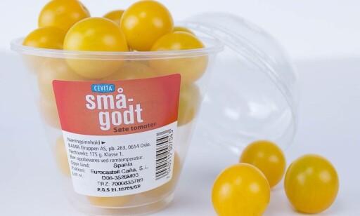 NYHET: KIWI lanserer nå en ny varient med gule cherrytomater.