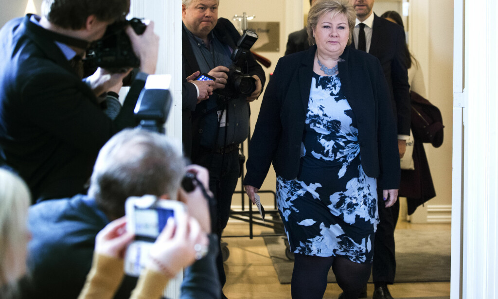 I STORMEN: Mens statsminister Erna Solberg (H) måtte avverge en regjeringskrise, kunne Sylvi Listhaug glede seg over økt oppslutning. Foto: Berit Roald / NTB scanpix