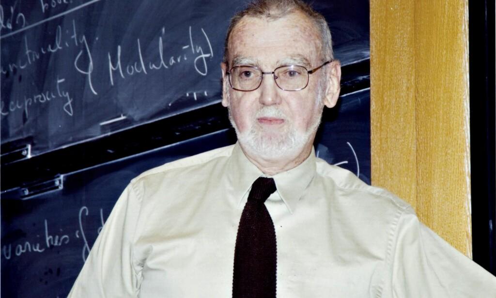 MATEMATIKER: Mottakeren av Abelprisen 2018 professor Robert Phelan Langlands.