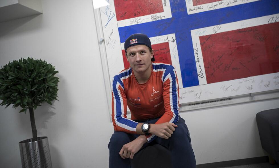 NORSK OL-HÅP: Triatlon-utøver Kristian Blummenfelt er medaljekandidat før OL om to år. Foto: Tomm W. Christiansen / Dagbladet