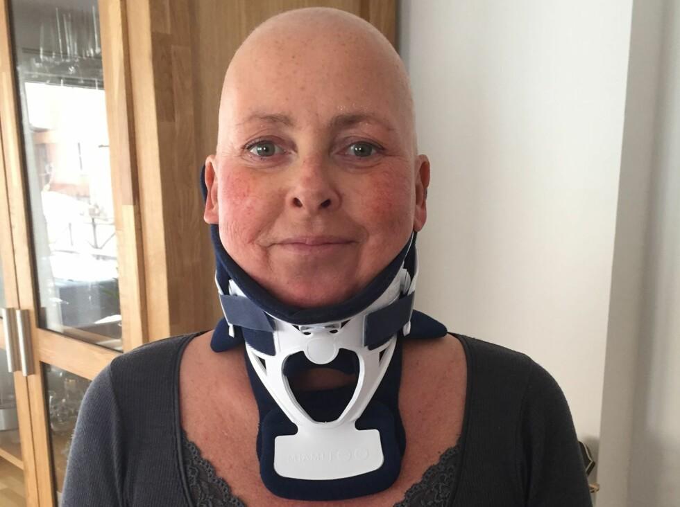 FALT PÅ ISEN: På vei til kreftbehandling ved Ullevål sykehus ramlet Jannicke på isen og fikk brudd i nakken. Foto: Privat