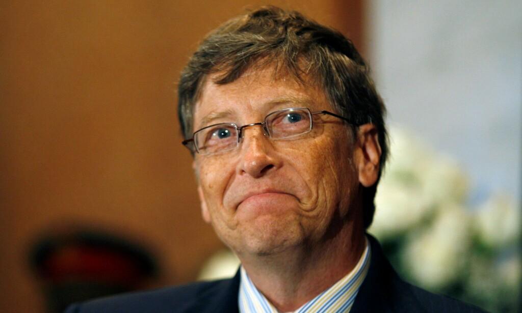 GOD NUMMER TO: Microsoft-gründer Bill Gates (62) har lenge vært en av verdens rikeste menn. Nå må han imidlertid se seg slått av Amazon-sjefen Jezz Bezos. Foto: NTB Scanpix