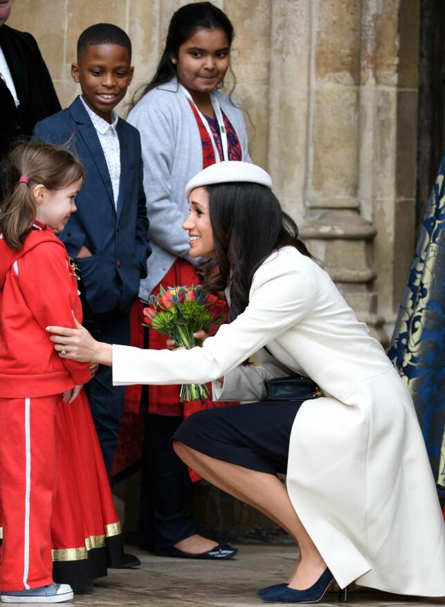 OFFISIELL ROLLE: Som prins Harrys kommende kone får Meghan stadig en mer offisiell rolle. Markles fans mener søsteren prøver å utnytte Markles rolle for egen vinning. Foto: NTB Scanpix.