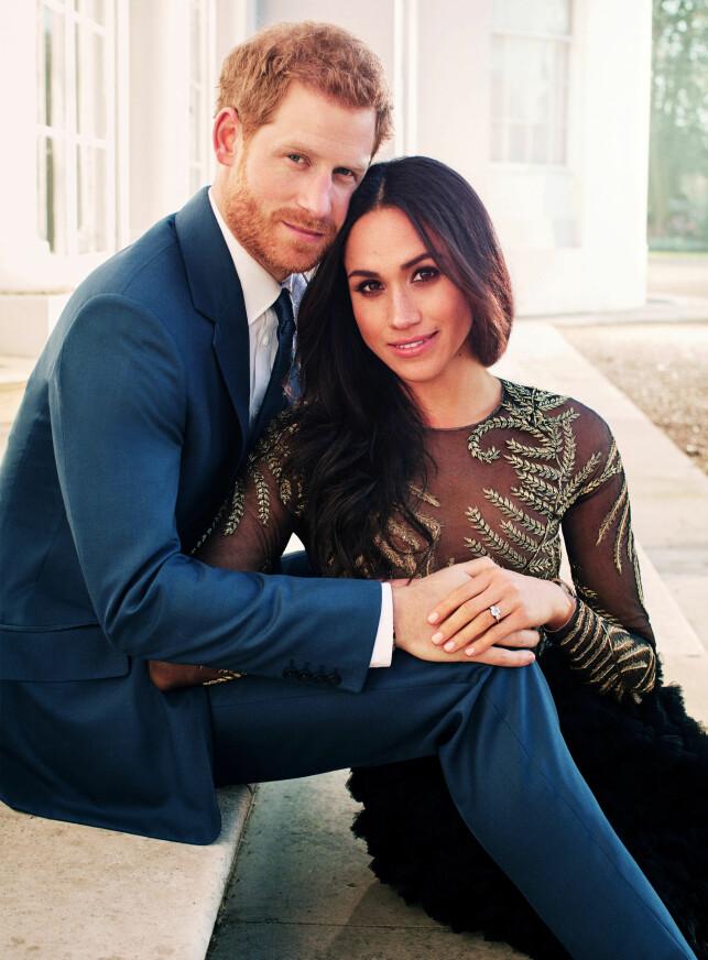 OFFISIELLE FORLOVELSESBILDER: Prins Harry og Meghan Markle annonserte forlovelsen sin i november, og i den forbindelse slapp Kensington Palace offisielle bilder av paret. Foto: NTB scanpix