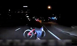 A still frame taken from video released March 21, 2018 shows the exterior view of the self-driving Uber vehicle leading up to the fatal collision in Tempe, Arizona, U.S. on March 18, 2018. Tempe Police Department/Handout via REUTERS   ATTENTION EDITORS - THIS IMAGE WAS PROVIDED BY A THIRD PARTY. NO RESALES. NO ARCHIVE.
