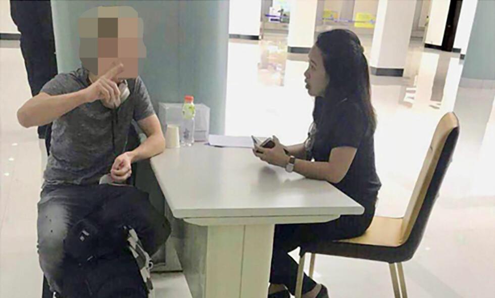 UTVIST: Nordmannen ble pågrepet på flyplassen i Manila og utvist fra Filippinene. Foto: Bureau of Immigration.