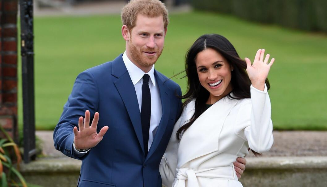SNART EKTEPAR: Det er knappe to måneder til prins Harry og Meghan blir mann og kone. Foto: NTB Scanpix