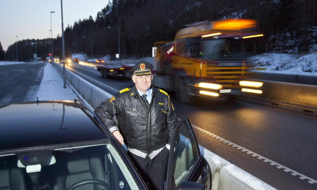 KLAR: UP-sjef Runar Karlsen er klar til å ta fartssynderne i påska. Foto: Per Flåthe / Dagbladet