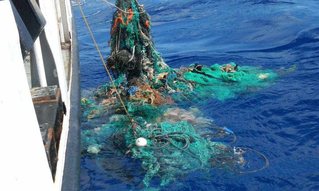 STORT: Omfanget av søppelfeltet i Stillehavet er langt større enn først antatt. Foto: NTB Scanpix