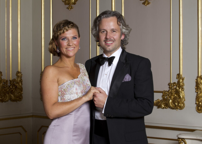 BURSDAG: Märtha Louise og Ari Behn under Märtha Louises 40-årsdag. Foto: NTB Scanpix.
