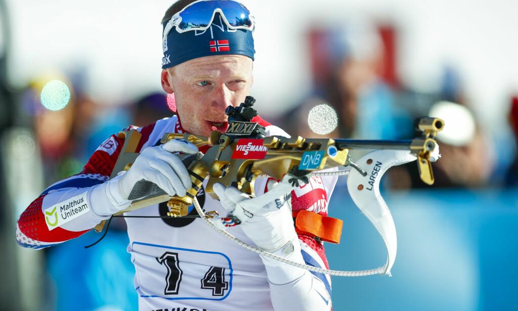NUMMER TO: Johannes Thingnes Bø ble nummer to på jaktstarten i Russland. Foto: Heiko Junge / NTB scanpix