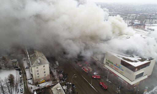image: 64 bekreftet døde og mer enn 40 barn savnet etter kjøpesenterbrann i Russland