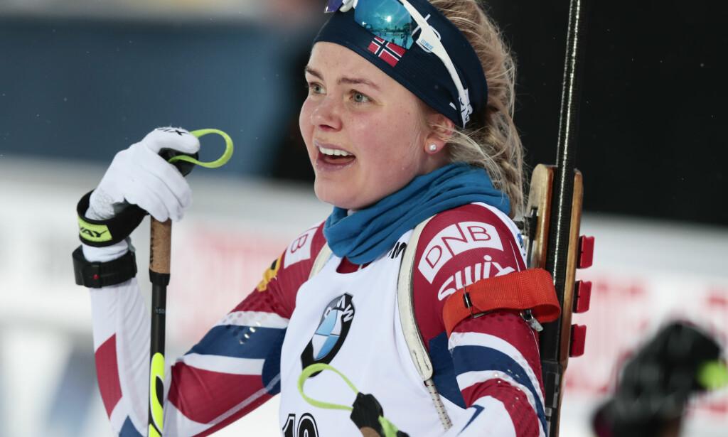 GIR SEG: Hilde Fenne legger opp som skiskytter. Foto: Lise Åserud / NTB scanpix