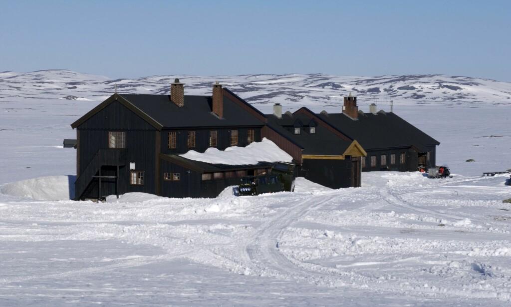 SYKE: Noen av pasientene er hentet her på Turistforeningens hytte på Sandhaug på Hardangervidda. Foto: NTB scanpix