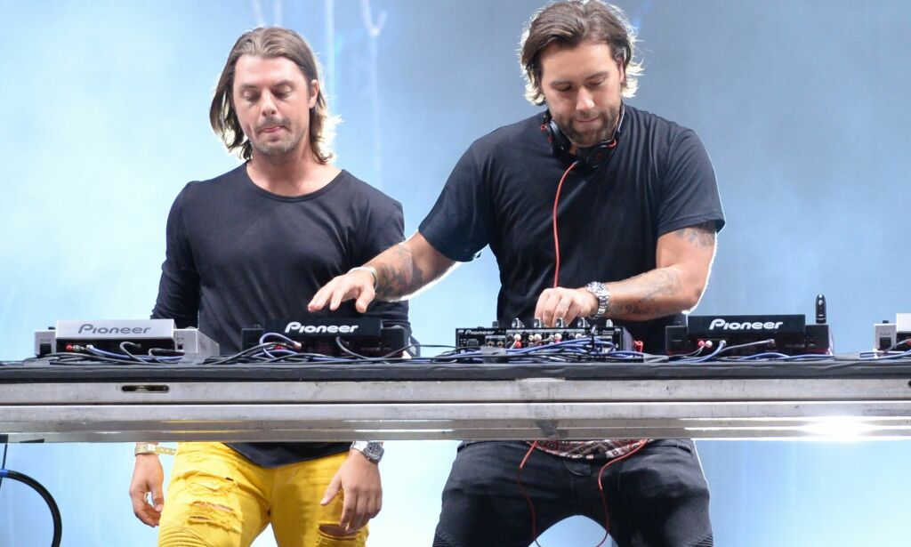 Wantagh 2015-08-22 Music duo Axwell ? Ingrosso perform at the 2015 Billboard Hot 100 Music Festival at Nikon at Jones Beach Theater on Saturday, Aug. 22, 2015, in Wantagh, N.Y. (Photo by Scott Roth/Invision/AP) Photo: Scott Roth / INVISION