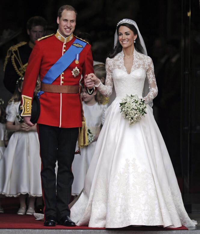 <strong>DRØMMEBRYLLUP:</strong> Kate og William hadde verdens øyne på seg da de giftet seg i London 29. april 2011. Foto: AP Photo / NTB scanpix