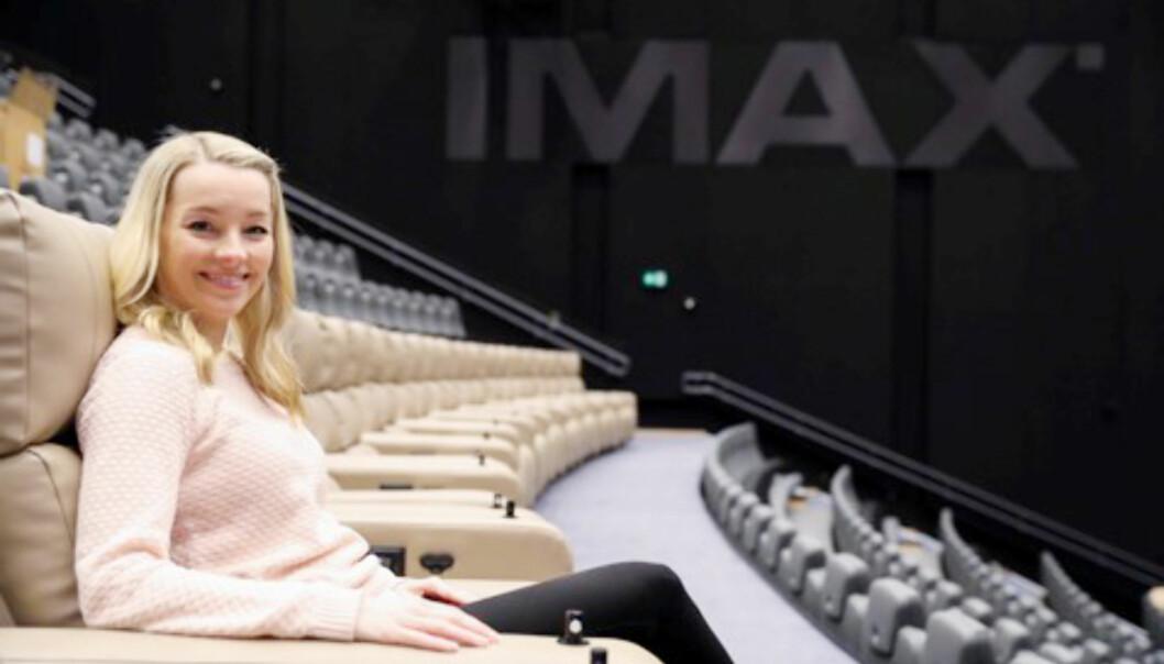 IMAX: Den nye IMAX-salen på ODEON kinosenter er nordens største, og kinosjef Linda Stenersen gleder seg til at publikum nå endelig skal få muligheten til å ta den i bruk. FOTO: Margaret Kwarteng