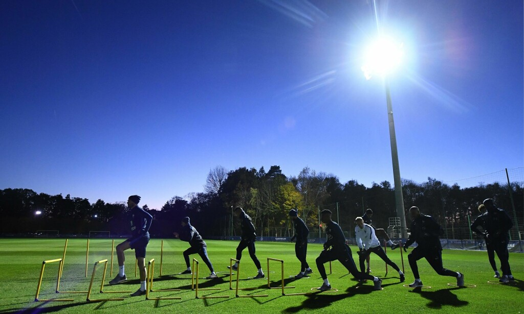CLAIREFONTAINE: Det franske landslaget trener på akademiet. Foto: FRANCK FIFE/AFP/NTB Scanpix